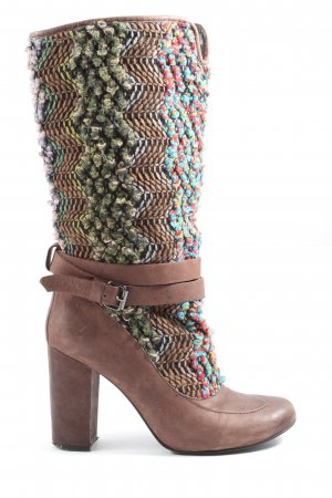 Botas de pantorrilla ancha multicolor look casual