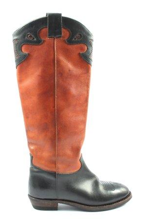 Boots western brun-noir style mode des rues