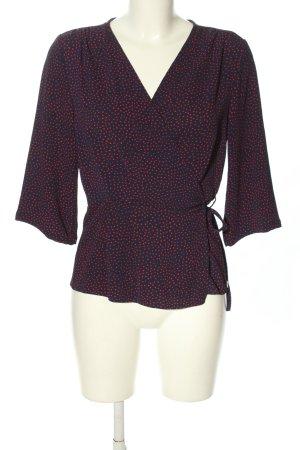 Kopertowa bluzka niebieski-różowy Na całej powierzchni W stylu biznesowym