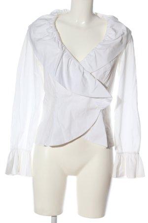 Kopertowa bluzka biały W stylu casual