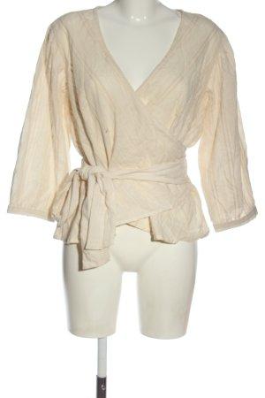 Kopertowa bluzka kremowy W stylu casual