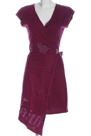 Live&Learn Robe portefeuille rose lettrage imprimé style décontracté