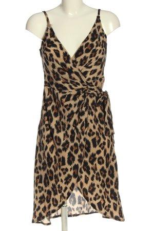 SheIn Kopertowa sukienka brązowy-czarny Na całej powierzchni W stylu casual