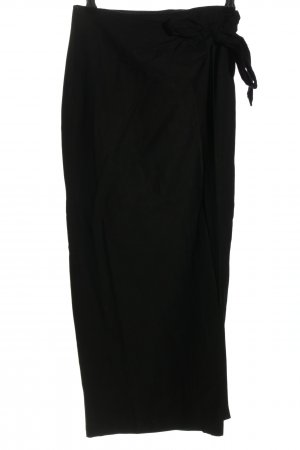 Wraparound Skirt black casual look