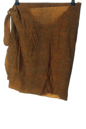 centana lido Jupe portefeuille noir-brun motif abstrait style décontracté