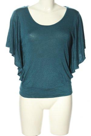 New Mode USA Wikkelshirt blauw casual uitstraling