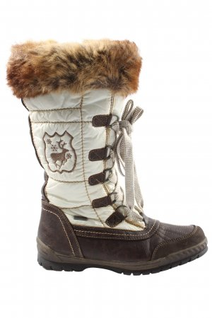 sumotex Winter Boots brown-white themed print casual look