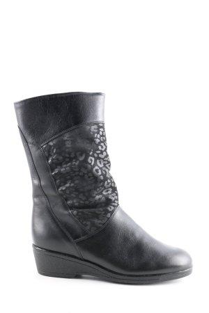 Mattil Bottes d'hiver noir motif abstrait style décontracté
