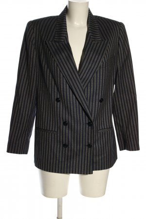 SICONF Wollen blazer blauw-wolwit abstract patroon casual uitstraling