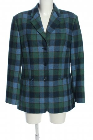 Wool Blazer blue-green allover print casual look