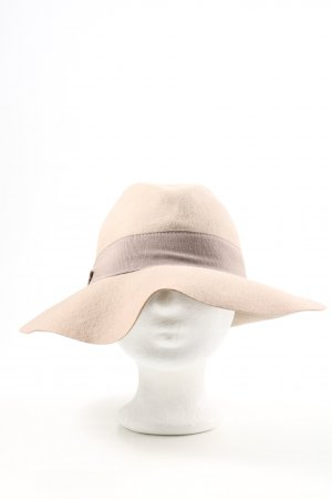 Cappello di lana bianco sporco-rosa elegante