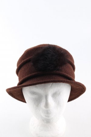 Woolen Hat brown elegant