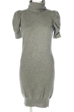 Effetto F Vestido de lana gris claro moteado look casual