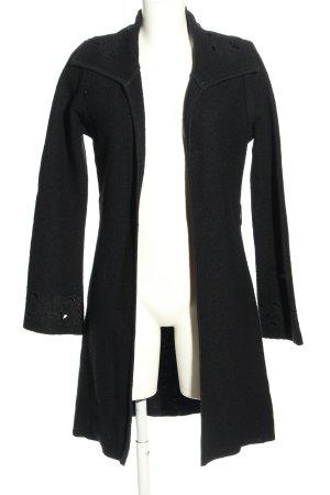 suksess Wool Coat black flecked casual look