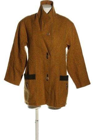 Manteau en laine bronze style décontracté
