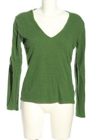 Wollen trui groen casual uitstraling