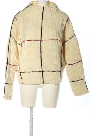 Maglione di lana multicolore stile casual