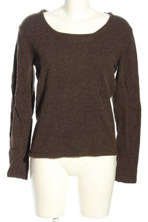 Wollen trui bruin gestippeld casual uitstraling