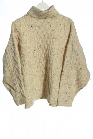 british wool Pull en laine crème style décontracté