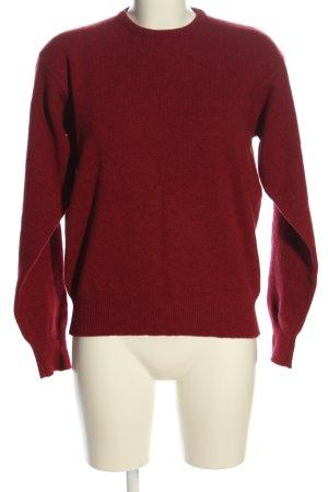 Maglione di lana rosso stile casual