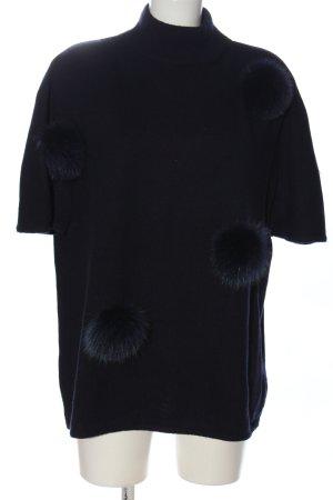 rocco ragni Wollpullover schwarz Casual-Look