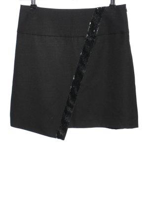 ASC Collection Wełniana spódnica czarny W stylu biznesowym