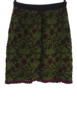 STULPENKULT Wollen rok groen-roze casual uitstraling