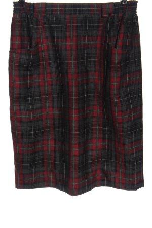 Wełniana spódnica Wzór w kratkę W stylu biznesowym