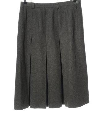 lady h. Gonna di lana grigio chiaro puntinato stile casual