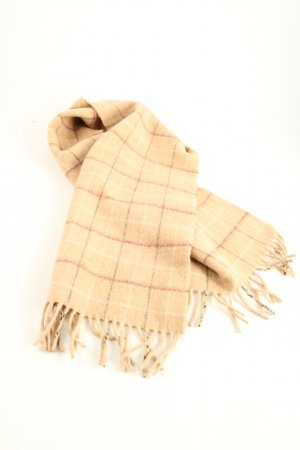Woolen Scarf natural white allover print casual look