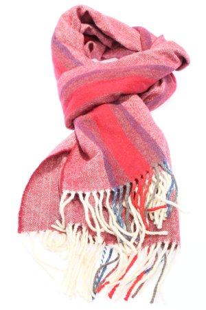 Écharpe en laine motif rayé style décontracté