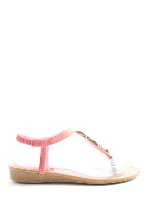 Sandały japonki z rzemykami różowy W stylu casual