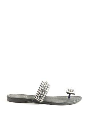 Zehentrenner-Sandalen schwarz Casual-Look