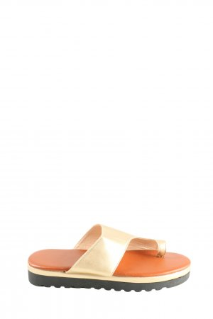 Toe-Post sandals light orange-gold-colored casual look