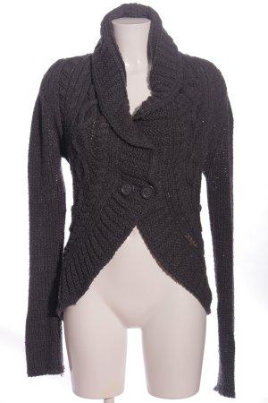 khujo genuine Warkoczowy sweter jasnoszary Warkoczowy wzór W stylu casual
