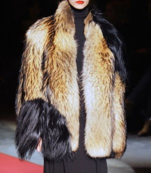 Maison Martin Margiela Pelt Jacket beige-black