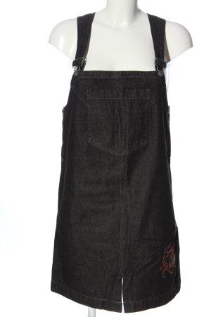 Uncle Sam Denim Dress black themed print casual look
