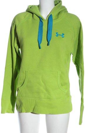 Under armour Felpa con cappuccio verde stile casual