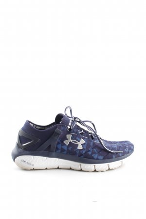 Under armour Schnürsneaker blau grafisches Muster Casual-Look