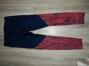 Under armour Pantalon de sport bleu foncé-rose fluo