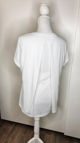 Under Armour Sporttop M weiß Rückenausschnitt kurzarm