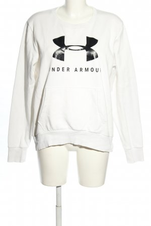 Under armour Sweat Shirt white-black themed print casual look