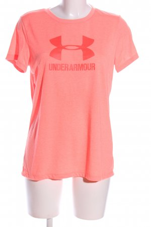 Under armour T-Shirt pink Motivdruck Casual-Look