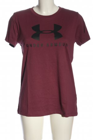 Under armour T-Shirt pink printed lettering casual look
