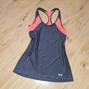 under armour Top XS 32 34 grau orange ringertop leicht Sporttop Fitness