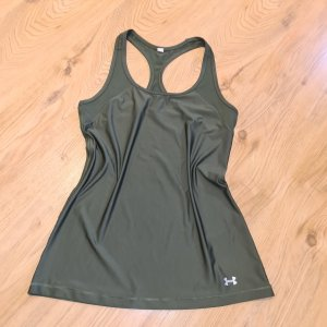 under armour Top XS 32 34 Khaki ringertop leicht Sporttop Fitness