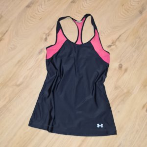 under armour Top XS 32 34 schwarz pink ringertop leicht Sporttop Fitness