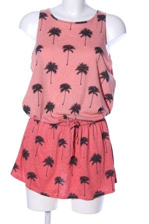 undiz Jerseykleid pink-schwarz Allover-Druck Casual-Look