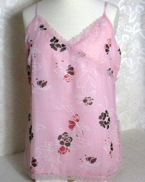 UNE MODE POUR MOI Träger Top Größe 48 Rosa Blumen Print