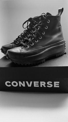 & ungetragen  Converse Run Star Hike Hi leather Almosen black
